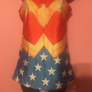 Wonder Woman Spandex Top Size Small